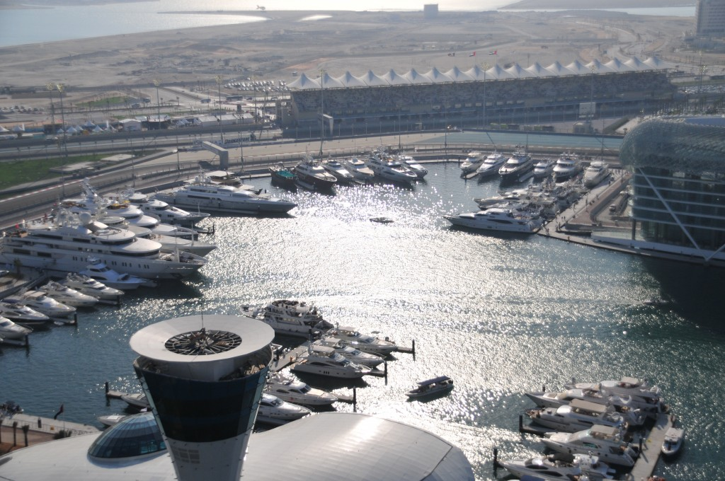Hospitality packages at the Abu Dhabi Grand Prix on board a yacht