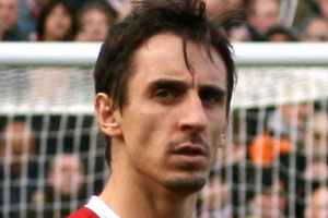 Gary Neville at the Football Legends party