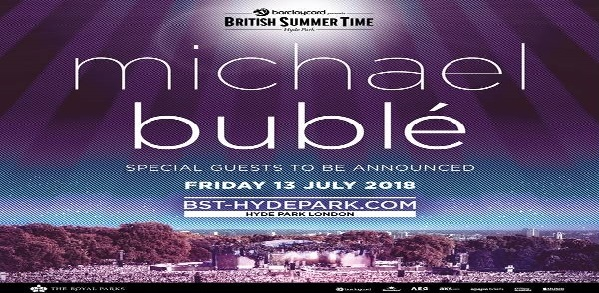 Michael Buble vip tickets and hospitality london bst festival